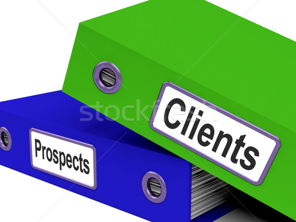 Clients And Prospects Files Shows Converting Leads Stock photo © stuartmiles