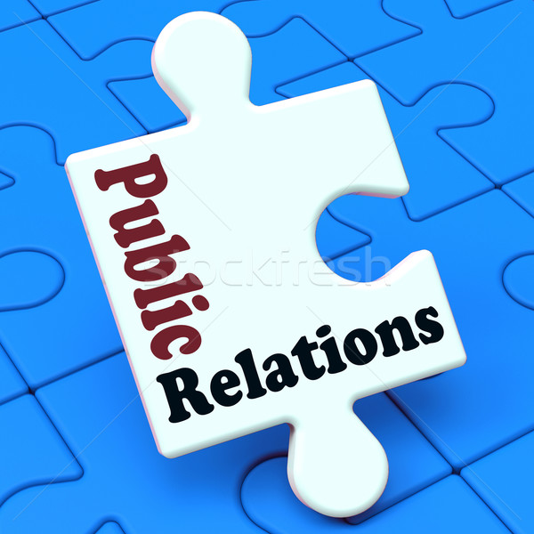 Public Relations Means News Media Communication Stock photo © stuartmiles