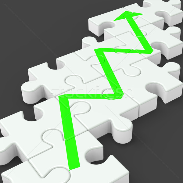 Profit Line Jigsaw Shows Increased Investment Stock photo © stuartmiles