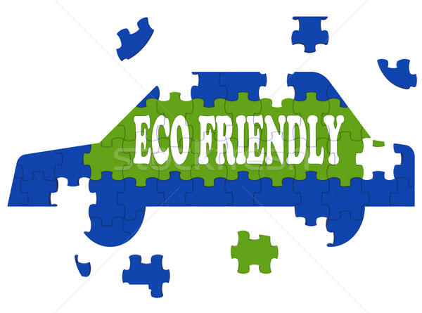 Eco Friendly Car Means Environmentally Clean Automobile Stock photo © stuartmiles
