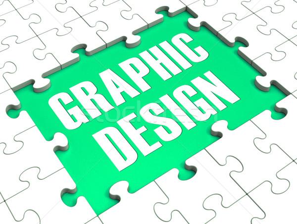 グラフィックデザイン パズル デジタル 芸術 芸術的 ストックフォト © stuartmiles
