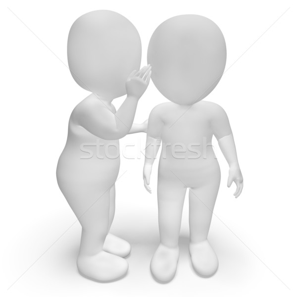 Whispering Gossip 3d Characters Have Secrets And Blab Stock photo © stuartmiles