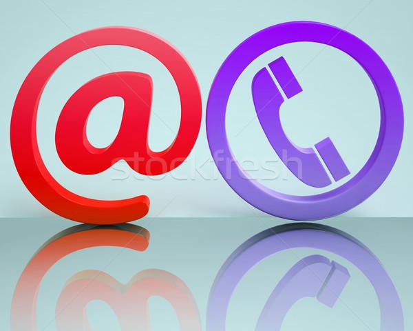 Telefon felirat kommunikáció internet jelentés telefon Stock fotó © stuartmiles