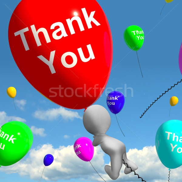 Thank You Balloons Showing Thanks And Gratefulness Stock photo © stuartmiles