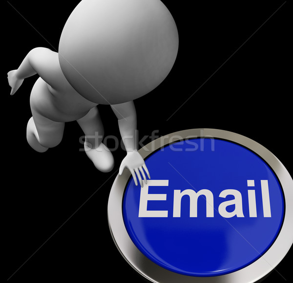 Email Button For Emailing And Internet Communication Stock photo © stuartmiles