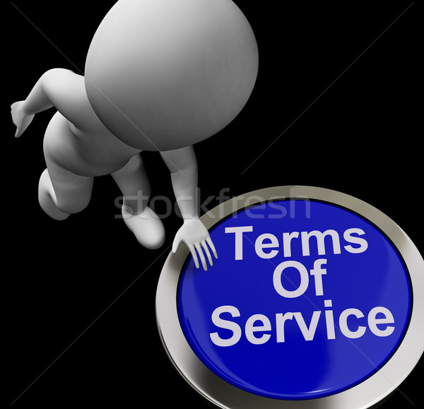 Terms Of Service Button Shows Websites Agreement And Conditions Stock photo © stuartmiles