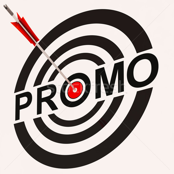 Promo Sign Shows Promotion Discount Offer Ad Stock photo © stuartmiles