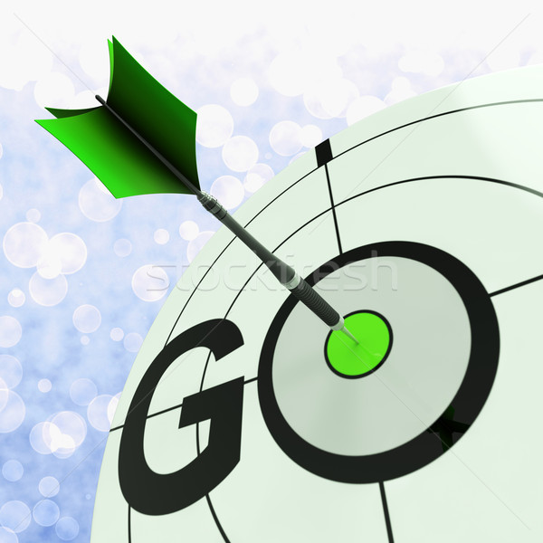 Go Means To Start Action To Proceed Stock photo © stuartmiles