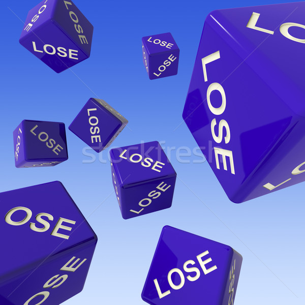 Lose Dice Background Showing Failure  Stock photo © stuartmiles