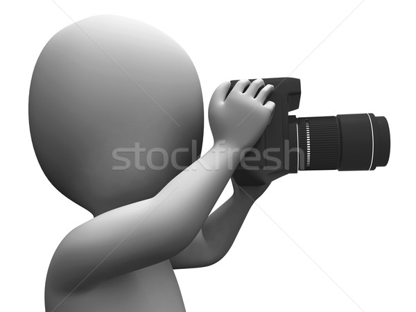 Photo Character Shows Photographic Dslr And Photography Stock photo © stuartmiles