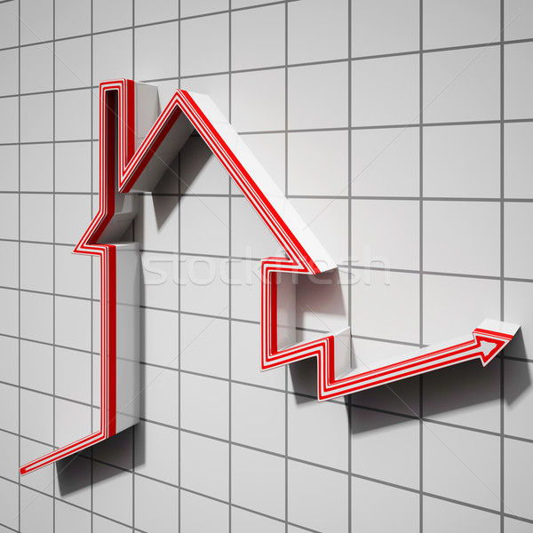 House Icon Showing House Price Going Up Stock photo © stuartmiles