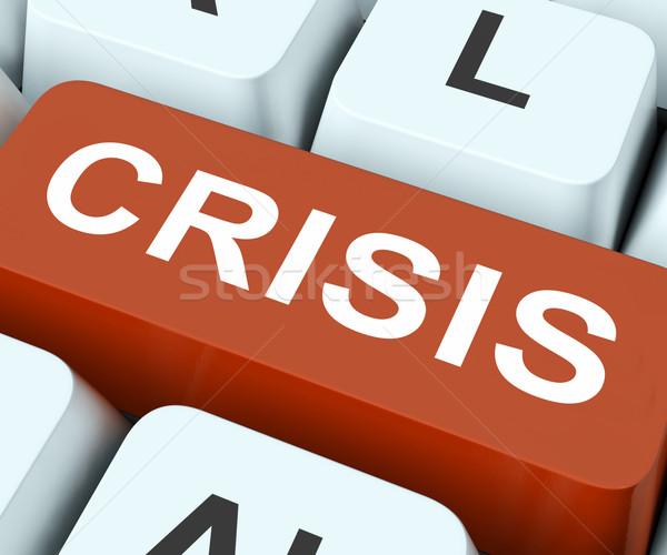 Crisis Key Means Calamity Or Situation Stock photo © stuartmiles