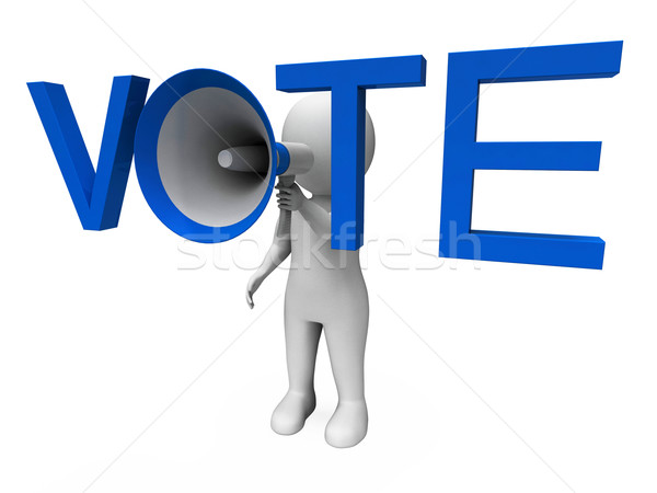 Vote Hailer Shows Voting Poll And Polling Stock photo © stuartmiles