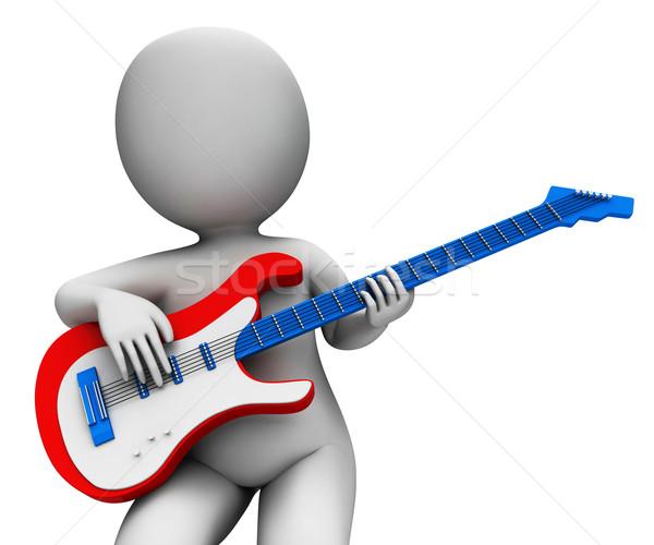рок гитарист играет музыку гитаре рокер Сток-фото © stuartmiles