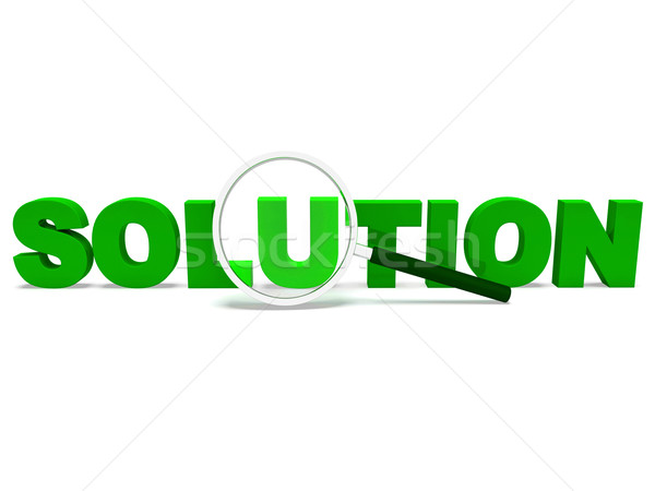 Solution Word Shows Solve Resolve Succeed And Solved Stock photo © stuartmiles