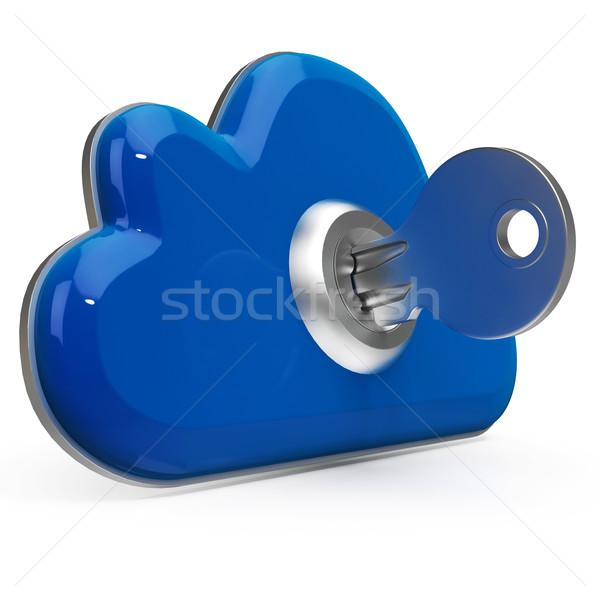 Kluczowych Internetu bezpieczeństwa bezpieczeństwo danych Zdjęcia stock © stuartmiles