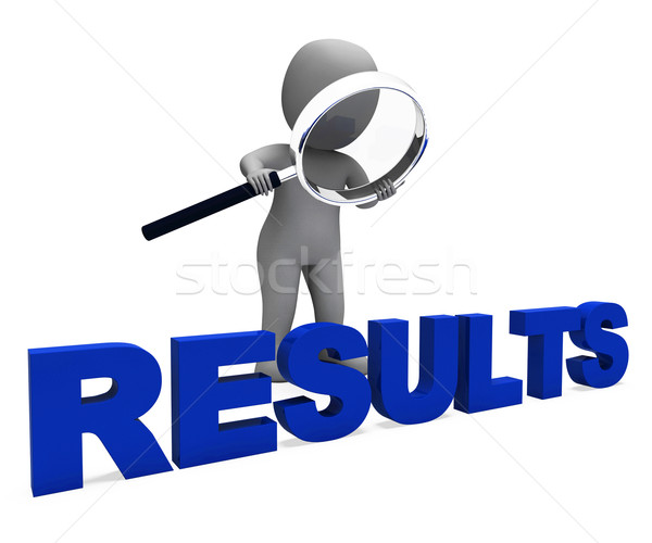 Results Character Shows Improvement Result Or Outcome Stock photo © stuartmiles