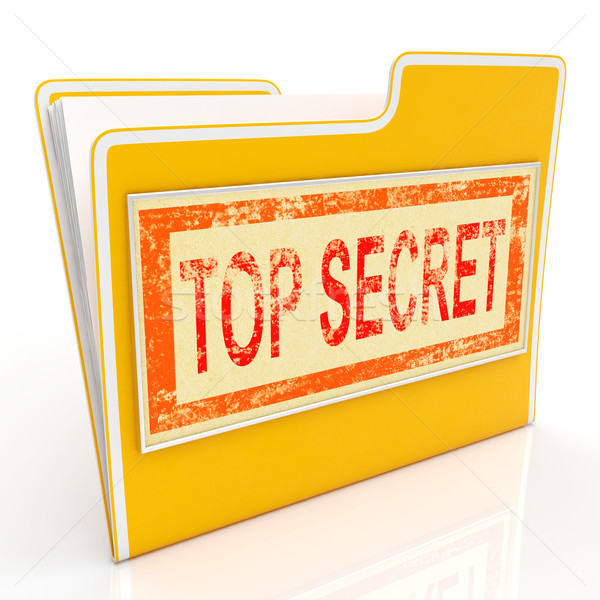 Stock photo: Top Secret File Shows Private Folder Or Files