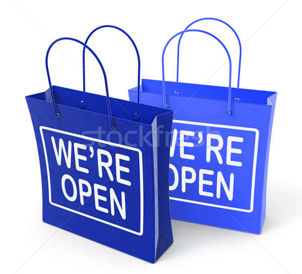 We're Open Bags Show Grand Opening or Launch Stock photo © stuartmiles