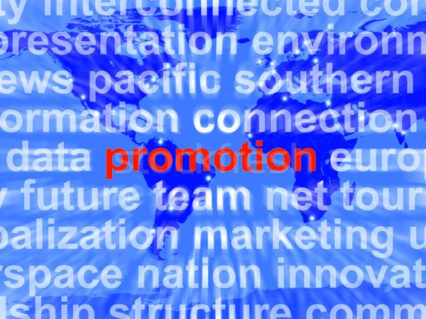 Promóció szófelhő árengedmény alkalmi vétel mutat Stock fotó © stuartmiles