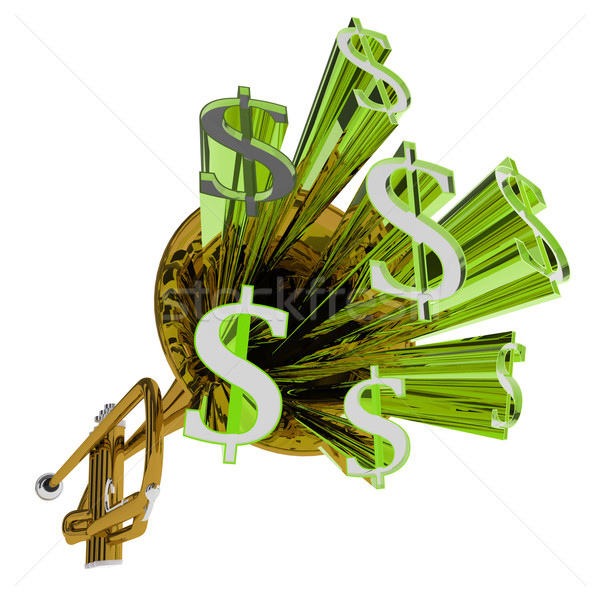 Dollar Sign Means Money Currency And Finances Stock photo © stuartmiles