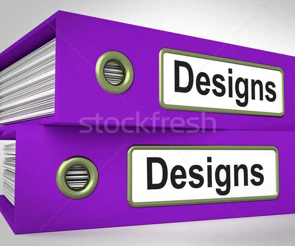 Designs Folders Mean Style Of Product Or Publication Stock photo © stuartmiles