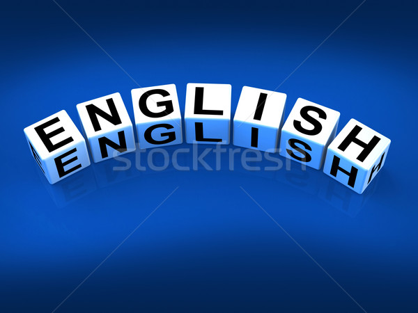 English Blocks Refer to Speaking and Writing Vocabulary from Eng Stock photo © stuartmiles