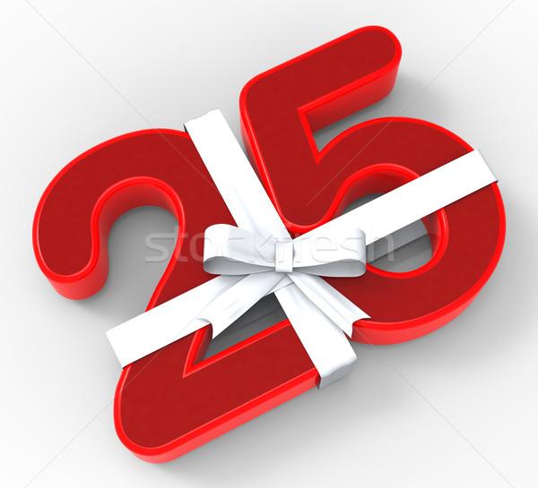 Aantal twintig vijf lint verjaardag betekenis Stockfoto © stuartmiles