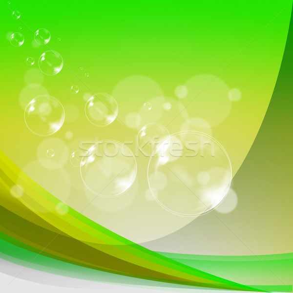 Bubbles Background Shows Translucent Spheres Or Shiny Air Balls Stock photo © stuartmiles
