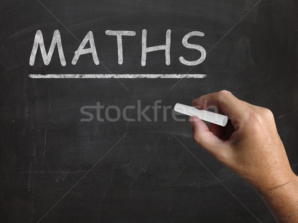 Maths Blackboard Means Arithmetic Numbers And Calculations Stock photo © stuartmiles