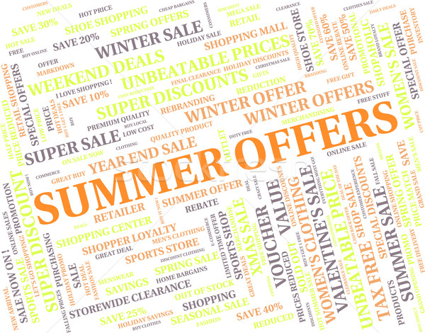 Summer Offers Represents Hot Weather And Bargain Stock photo © stuartmiles