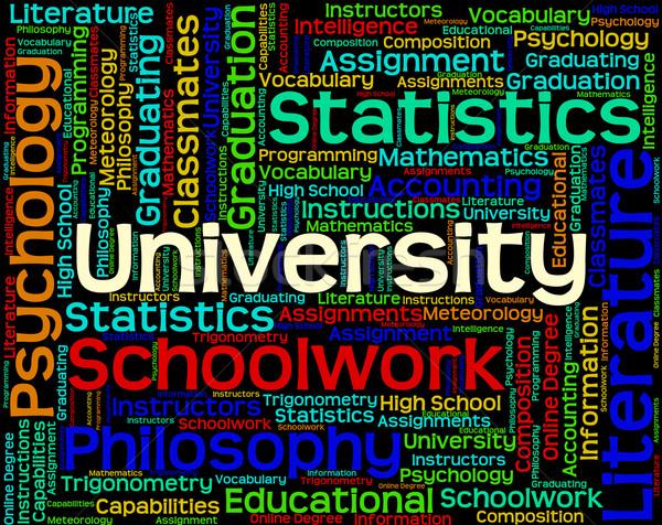 Universidade palavra academia escolas texto Foto stock © stuartmiles