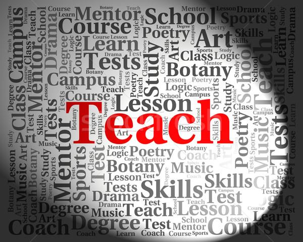 教える 言葉 与える レッスン コーチング 教育 ストックフォト © stuartmiles