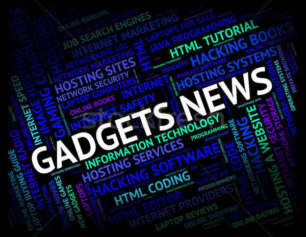 Gadgets News Shows Mod Con And Apparatus Stock photo © stuartmiles