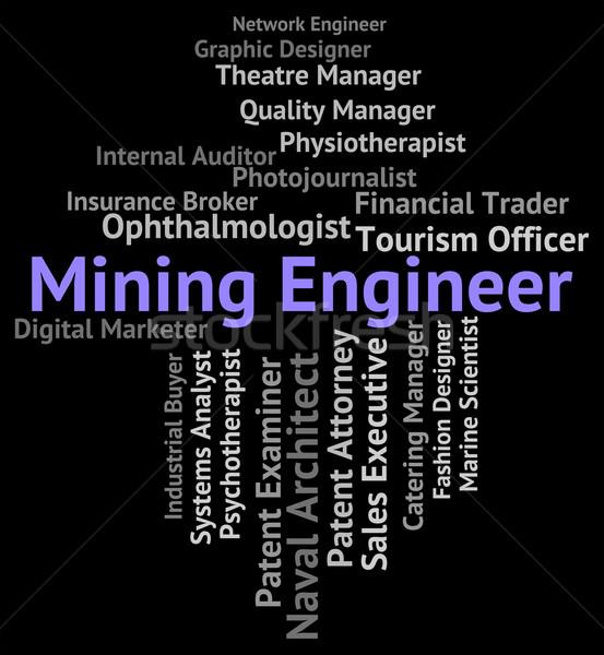 Mijnbouw ingenieur werk baan carriere monteur Stockfoto © stuartmiles