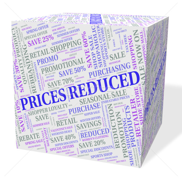 Prices Reduced Indicates Charge Estimate And Reduction Stock photo © stuartmiles