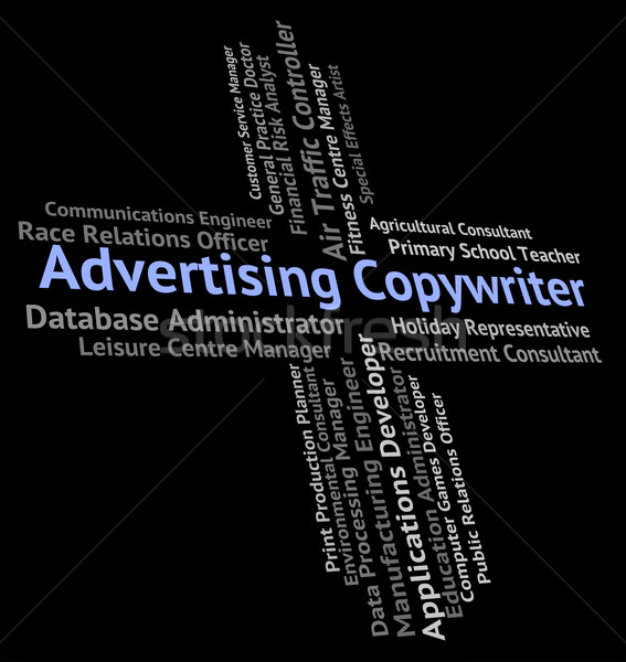 Advertising Copywriter Shows Hire Text And Promote Stock photo © stuartmiles
