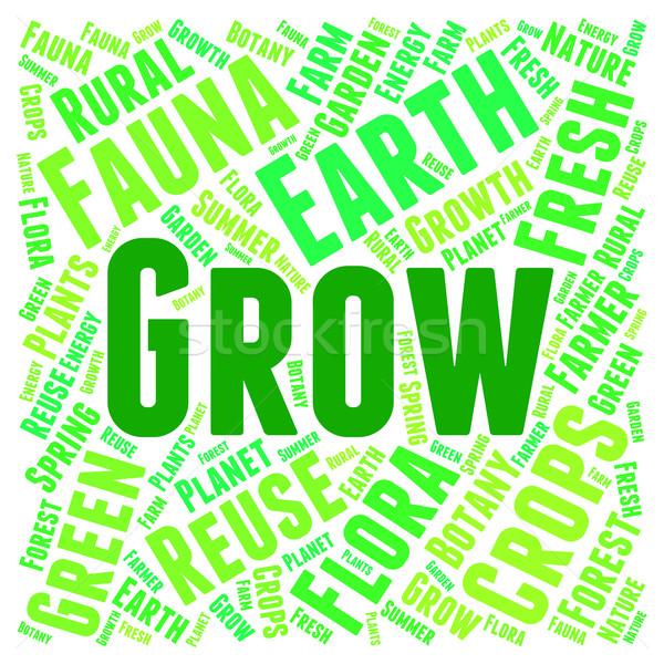 слов расти культивировать смысл фермы роста Сток-фото © stuartmiles