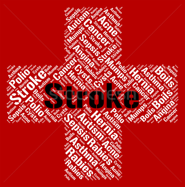 Stroke Illness Indicates Transient Ischemic Attack And Disease Stock photo © stuartmiles