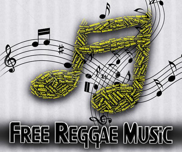 Szabad reggae zene semmi jelentés ingyenes Stock fotó © stuartmiles