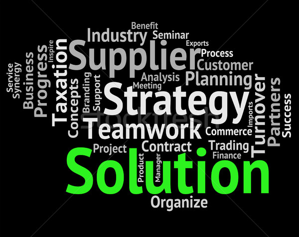 Solution Word Shows Success Resolve And Succeed Stock photo © stuartmiles