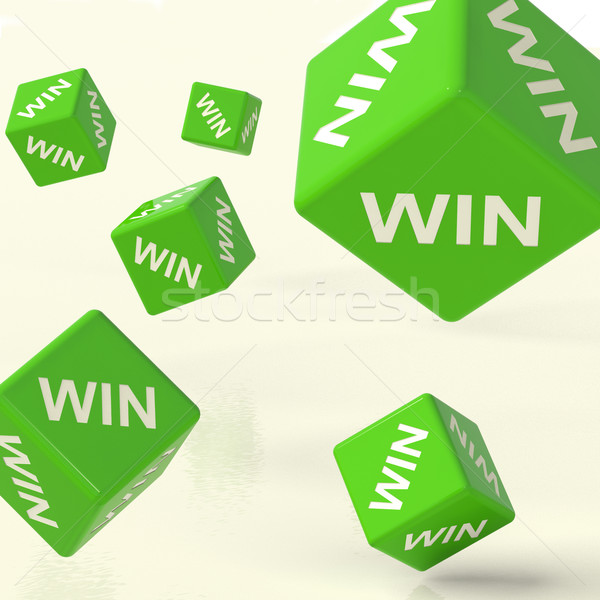 Win Dice Representing Triumph And Success Stock photo © stuartmiles