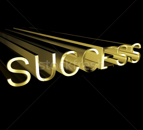 Success Text In Gold And 3d Stock photo © stuartmiles