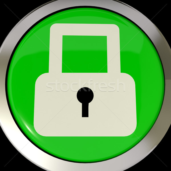 Icon Or Button Showing Padlock For Security Or Locked Stock photo © stuartmiles