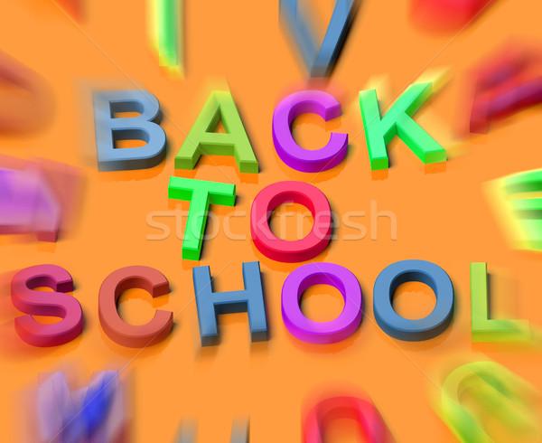 Crianças cartas ortografia de volta à escola símbolo educação Foto stock © stuartmiles