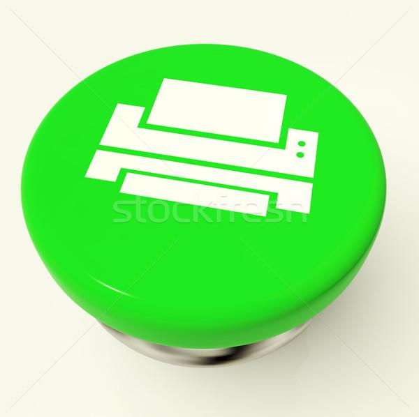 Print Icon Button As Symbol For Printing Or Printer Stock photo © stuartmiles