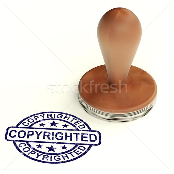 Stempel tonen octrooi handelsmerk teken bescherming Stockfoto © stuartmiles