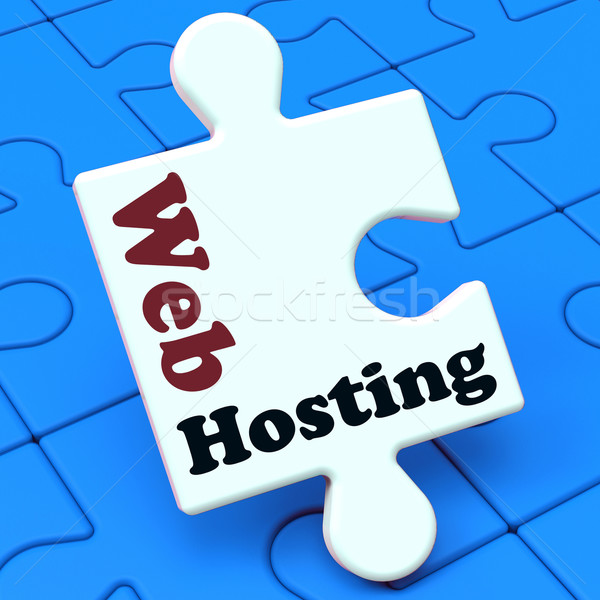 Web hosting website domein tonen url Stockfoto © stuartmiles