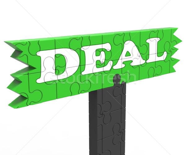 üzlet alkalmi vétel promóció megállapodás jelentés árengedmény Stock fotó © stuartmiles
