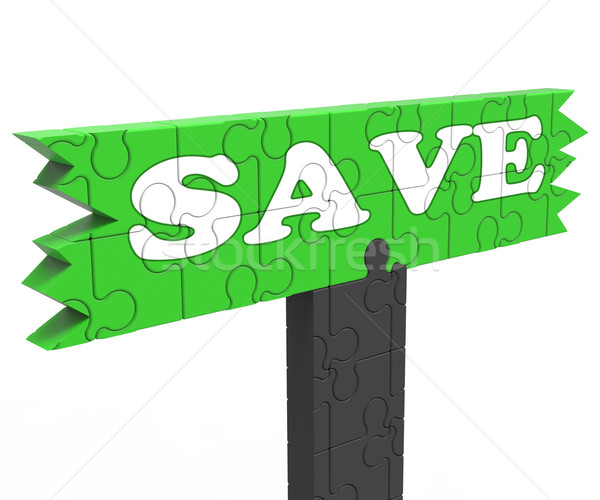 Save Means Discount Reduction Or Promotion Stock photo © stuartmiles